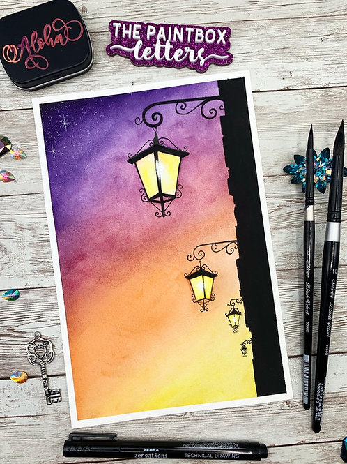 Lighting the Path Watercolor Painting