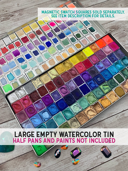 Large Empty Watercolor Tin/Palette