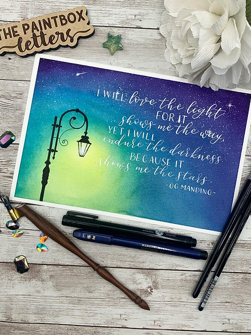 Love the Light Watercolor Painting