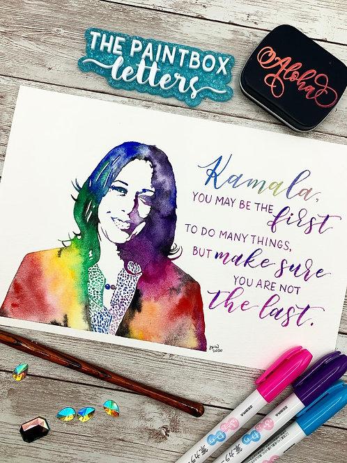 Kamala Harris Watercolor Painting