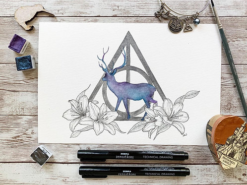 For Lily Potter Watercolor Painting