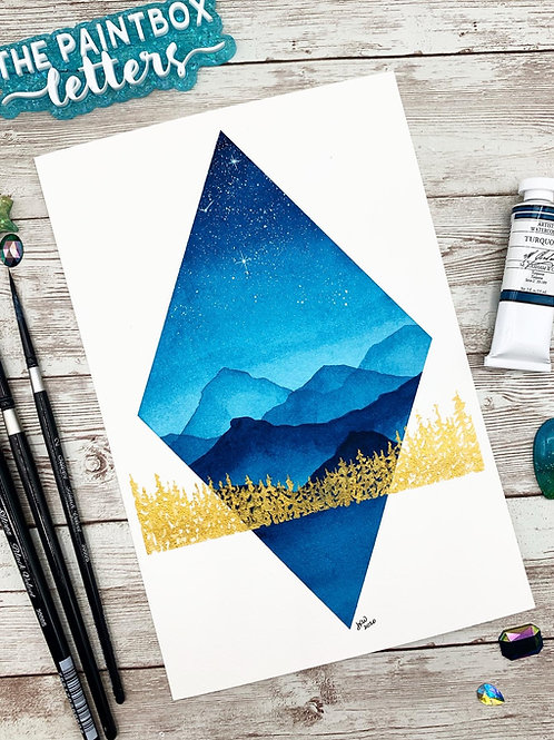 Turquoise Skies Watercolor Painting