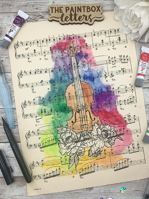 Music To My Eyes Watercolor Painting