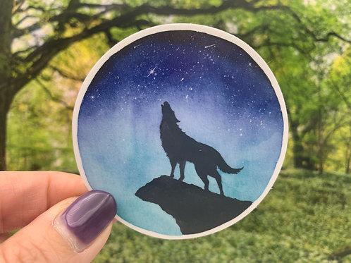 Howl at the Moon Vinyl Sticker