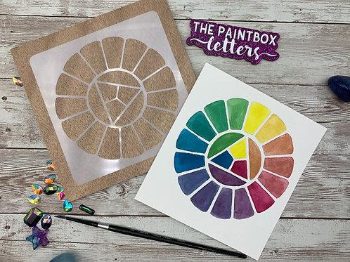Expanded Color Wheel Stencil