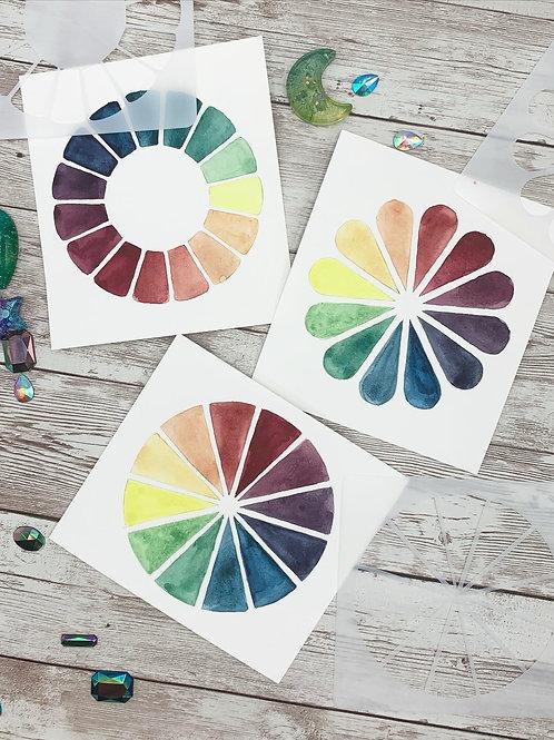 Mini Color Wheel Stencil Set
