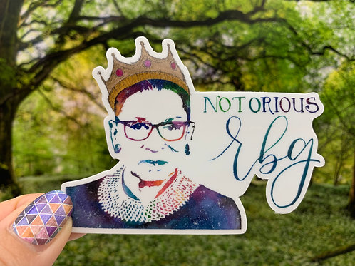 Notorious RBG Vinyl Sticker