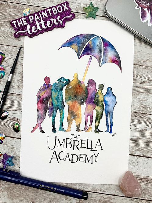 The Umbrella Academy Watercolor Painting