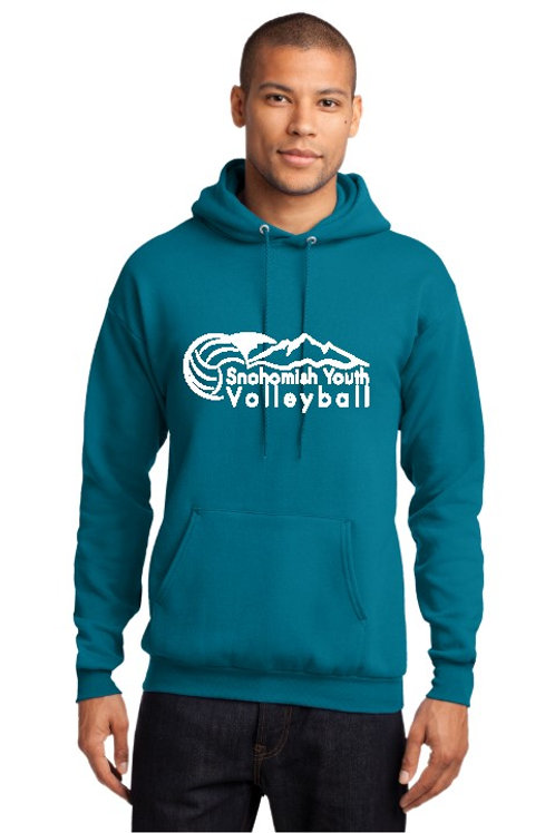 Sno Youth Volleyball Teal Hoodie (No youth sizes)