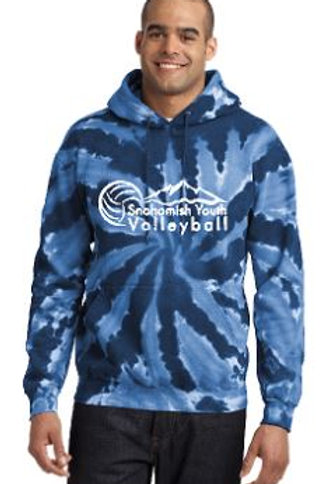 Sno Youth Volleyball Navy Tie Dye Hoodie