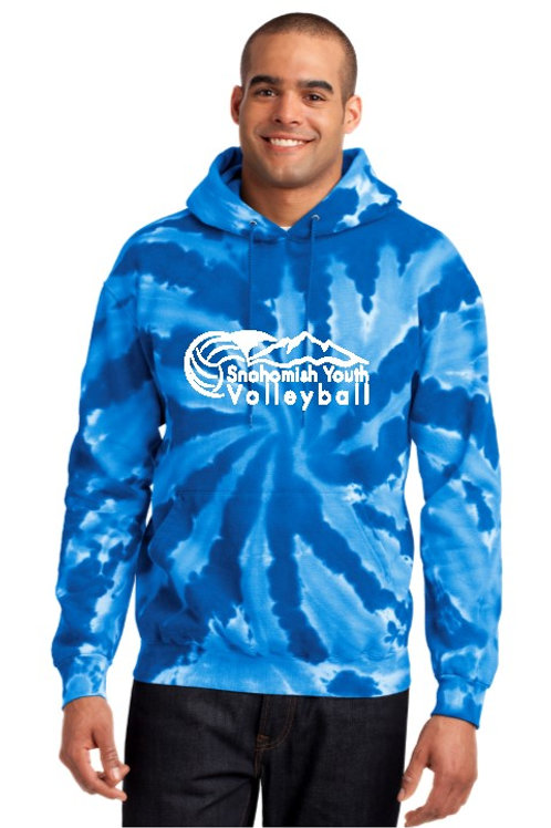 Sno Youth Volleyball Royal Tie Dye Hoodie