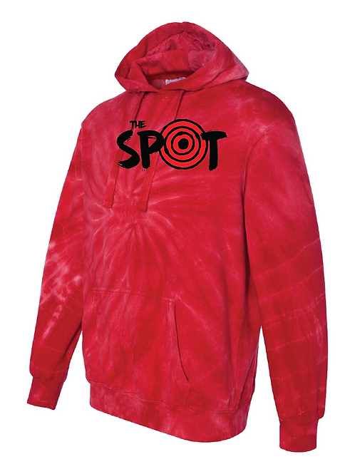 The Spot TieDye Red Hoodie
