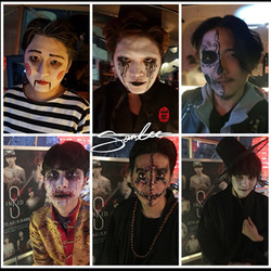 Halloween face painting 2017