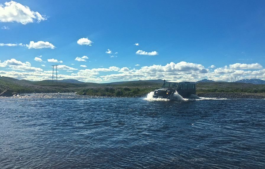 Crossing a river close to Gullfoss