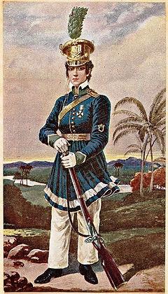 pintura em óleo de Maria Quitéria por Domenico Failutti
