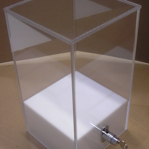 White Vitrine with Lock