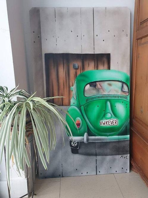 Decoratieplank met VW Kever