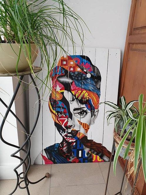 Decoratieplank met portret