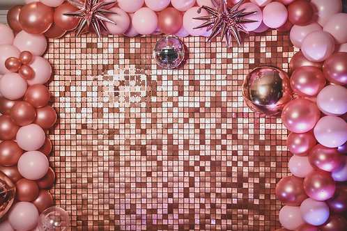 Rose Gold Sequins Wall