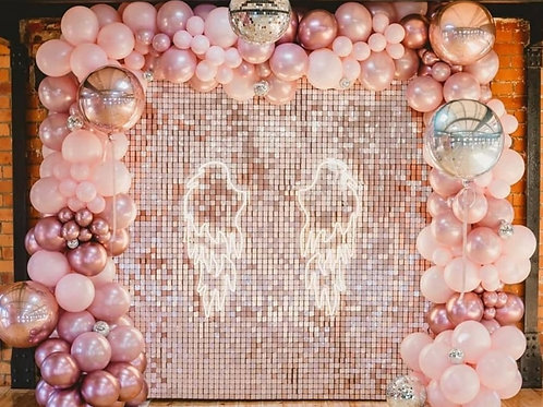 Blush Sequins Wall