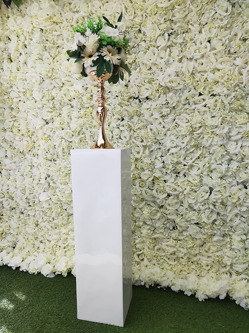 White Plinth or Big Vase