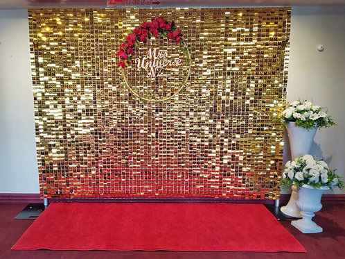 Gold Sequins Wall