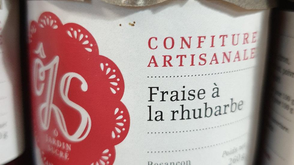 CONFITURE FRAISES,RHUBARBE