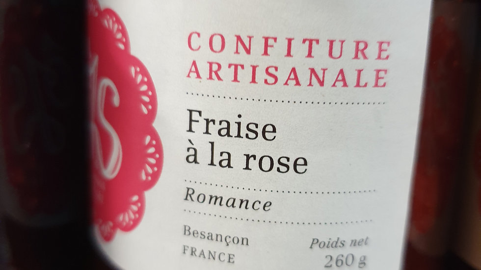 CONFITURE FRAISE A LA ROSE