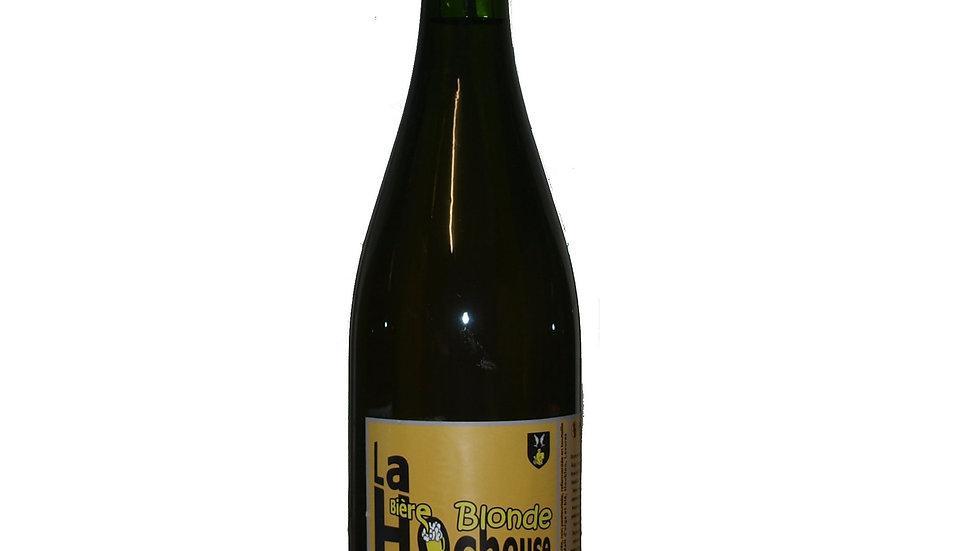 Bière blonde artisanale la bouteille de 0.75 litres