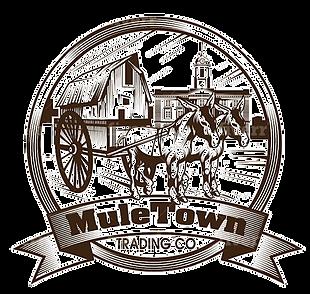 2 Mules pulling Shed logo