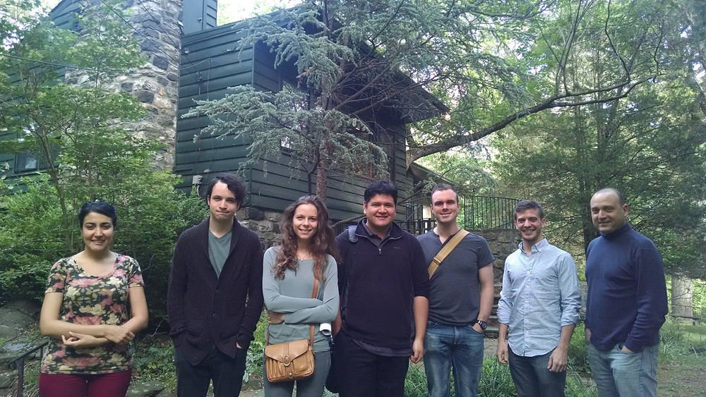 Composer Fellows at Aaron Copland's House.
