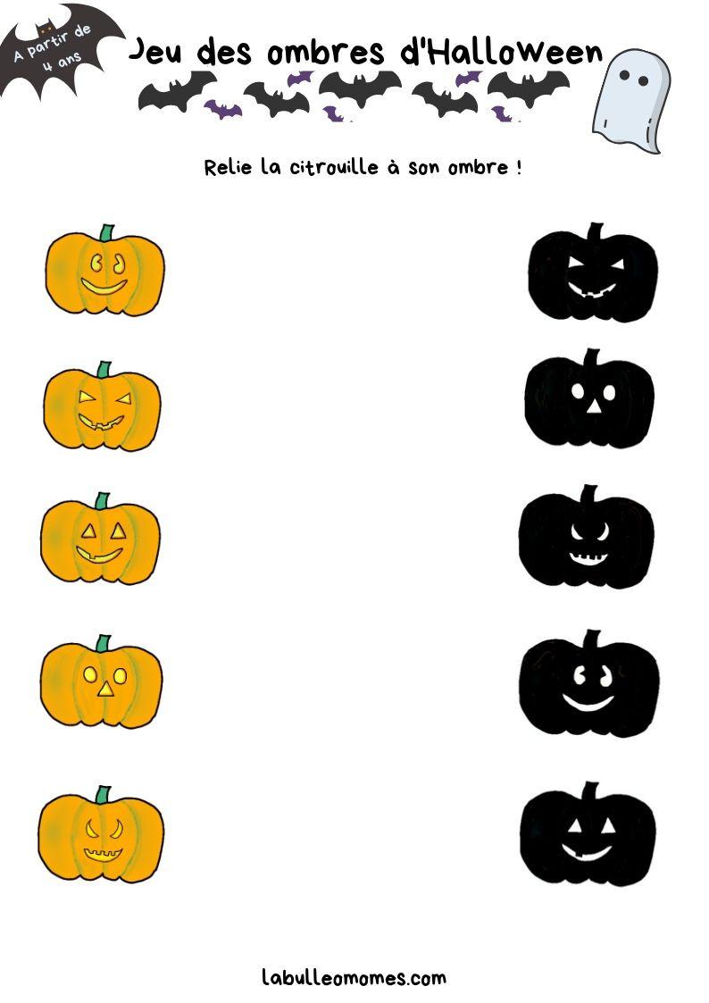 Un petit jeu d'observation sur le thème d'Halloween-A partir de 4 ans-La Bulle ô Mômes