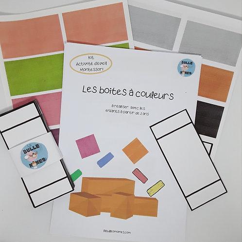 Kit DIY Montessori - Les boîtes à couleurs