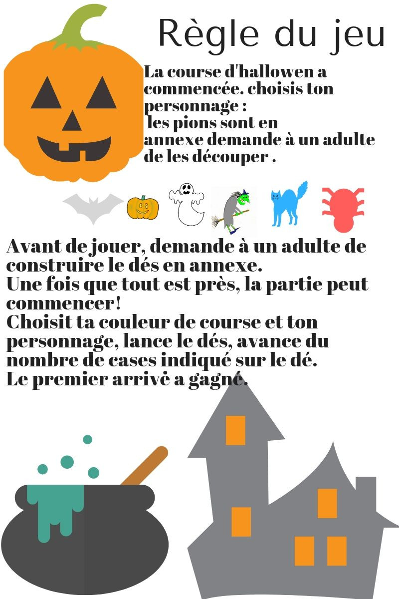 Règle du jeu- La course d'Halloween-La Bulle ô Mômes