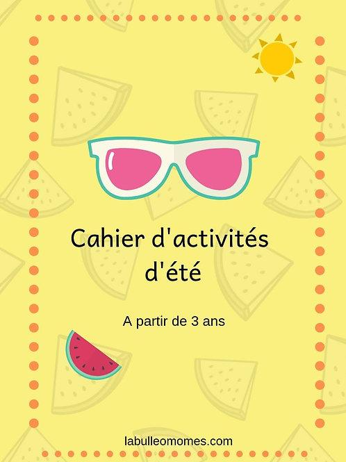 Cahier d'activités d'été