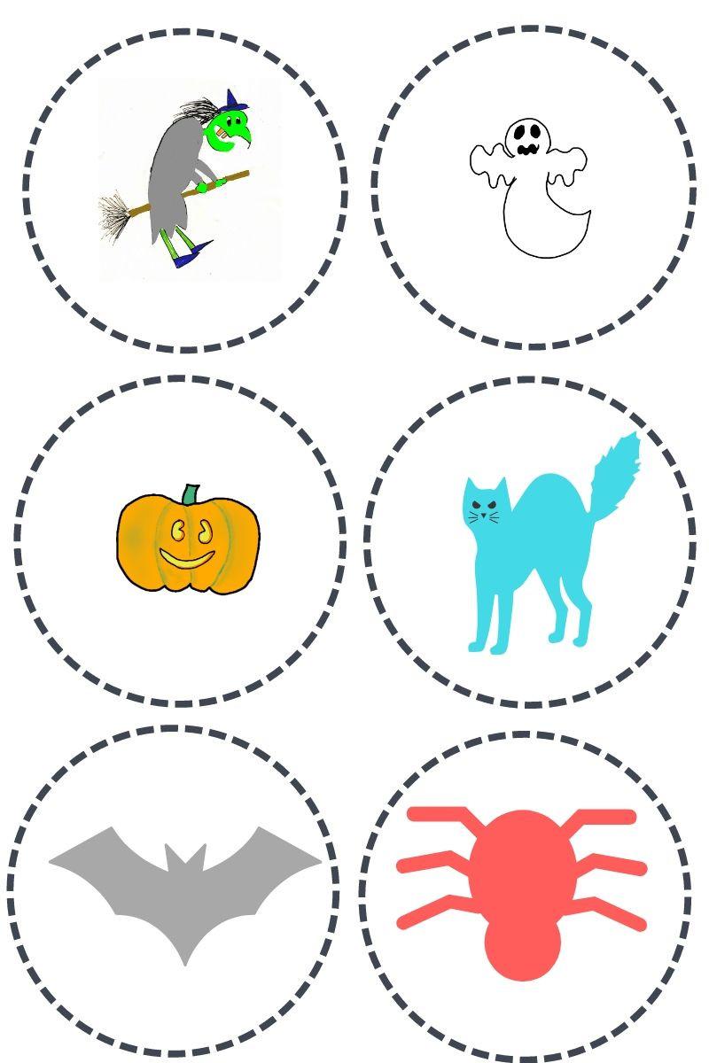 Pions à imprimer-Jeu de la course d'Halloween - La Bulle ô Mômes