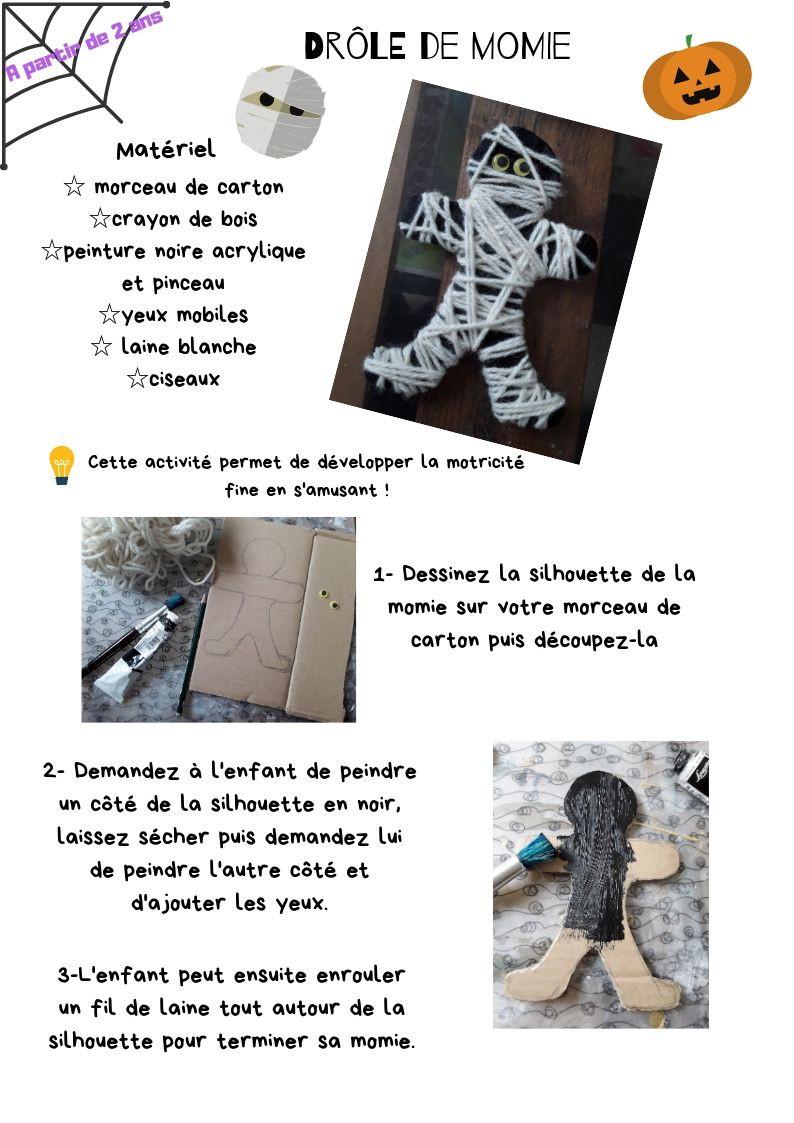 Tuto bricolage Halloween - Drôle de momie-La Bulle ô Mômes