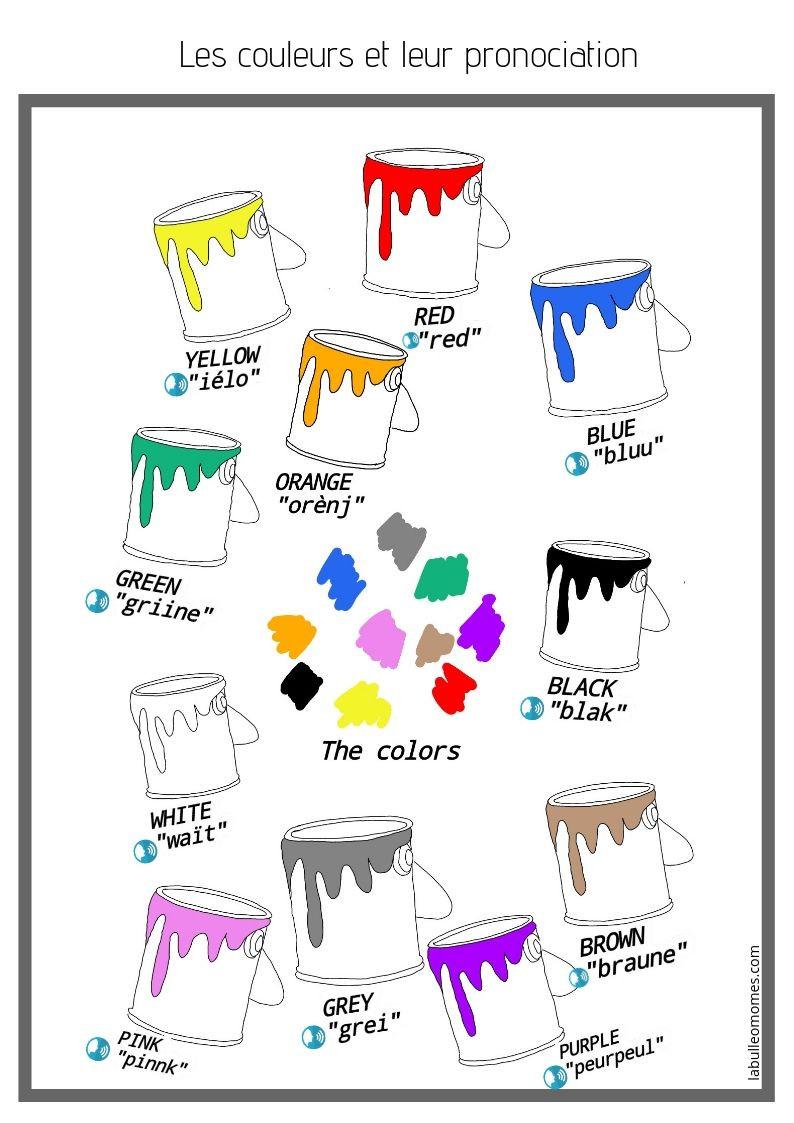 Poster des couleurs-je découvre l'anglais