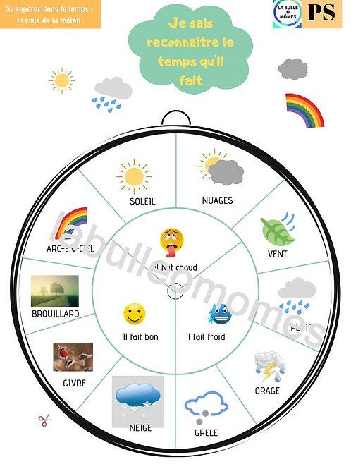 La roue de la météo -A partir de 3 ans