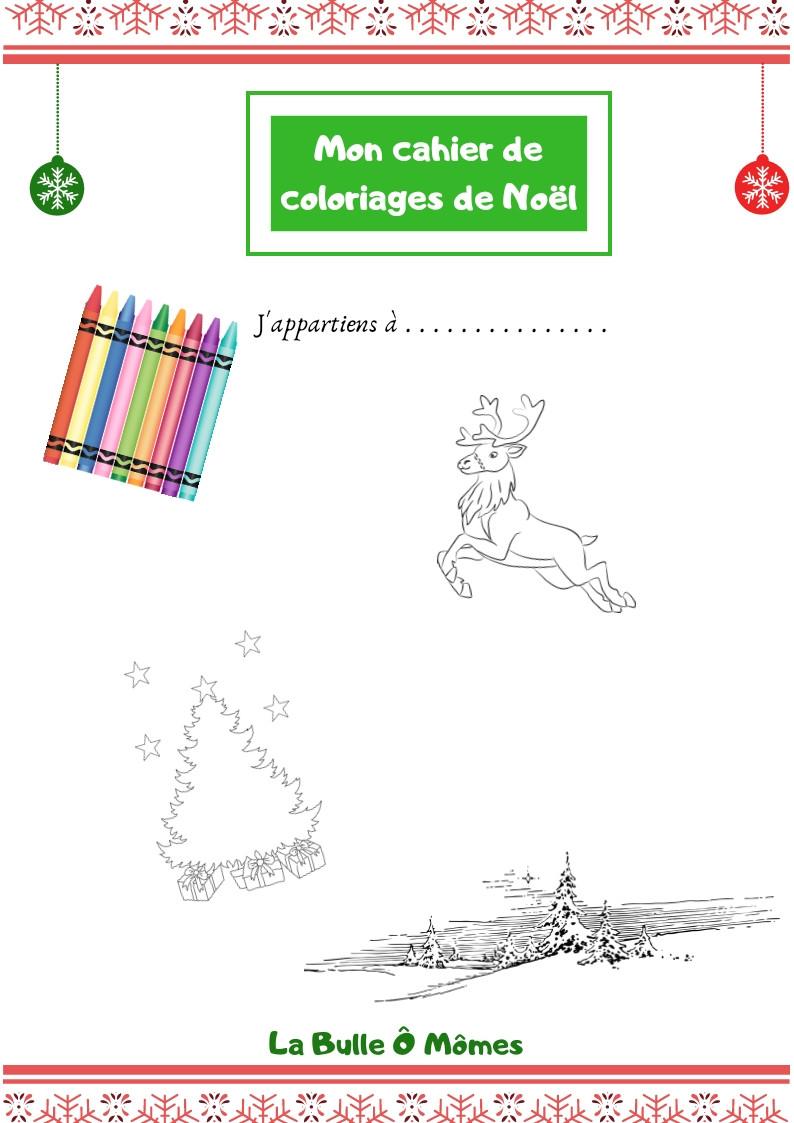 Le Cahier De Coloriages De Noel