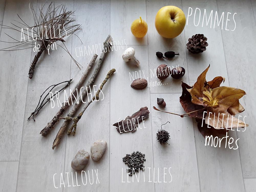 bac sensoriel d'automne-La Bule ô Mômes