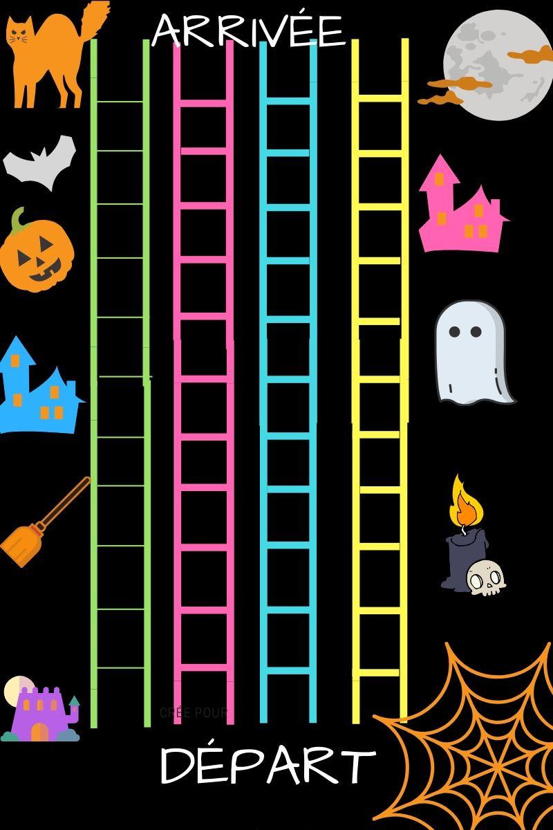 Plateau de jeu-La course d'Halloween - La Bulle ô Mômes