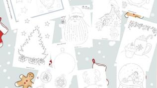 Le cahier de coloriages de Noël