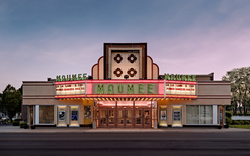 Maumee Indoor Theater Marquee Image.