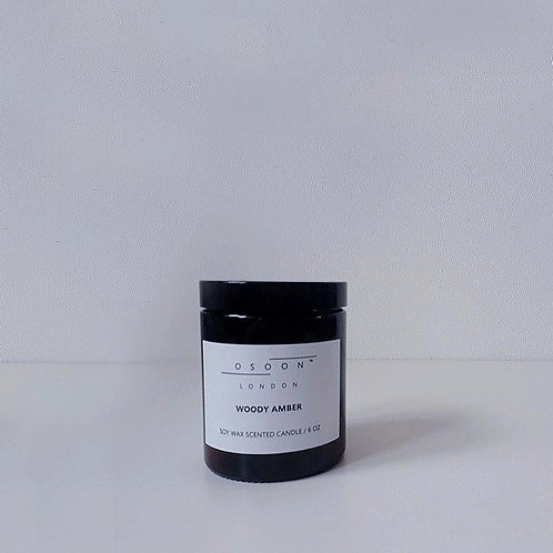 Woody Amber Soy Wax Candle [6oz]