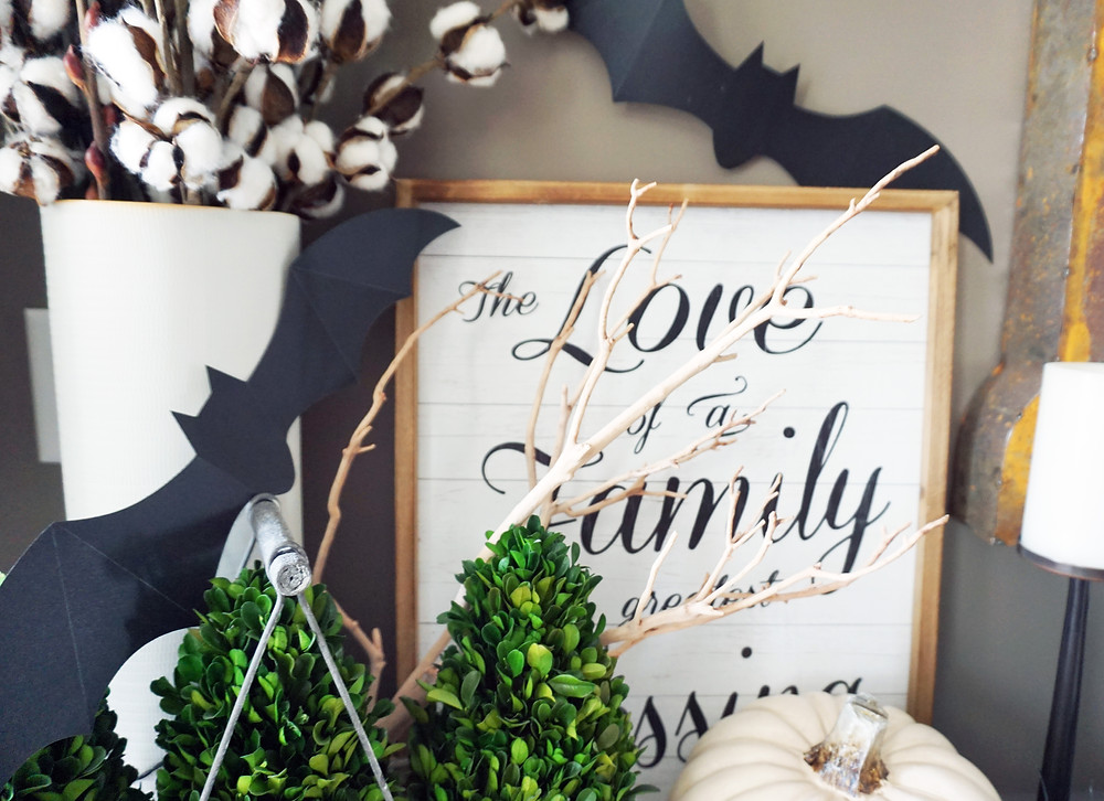 EH Design Blog - Halloween Decorations - Bats at Entry