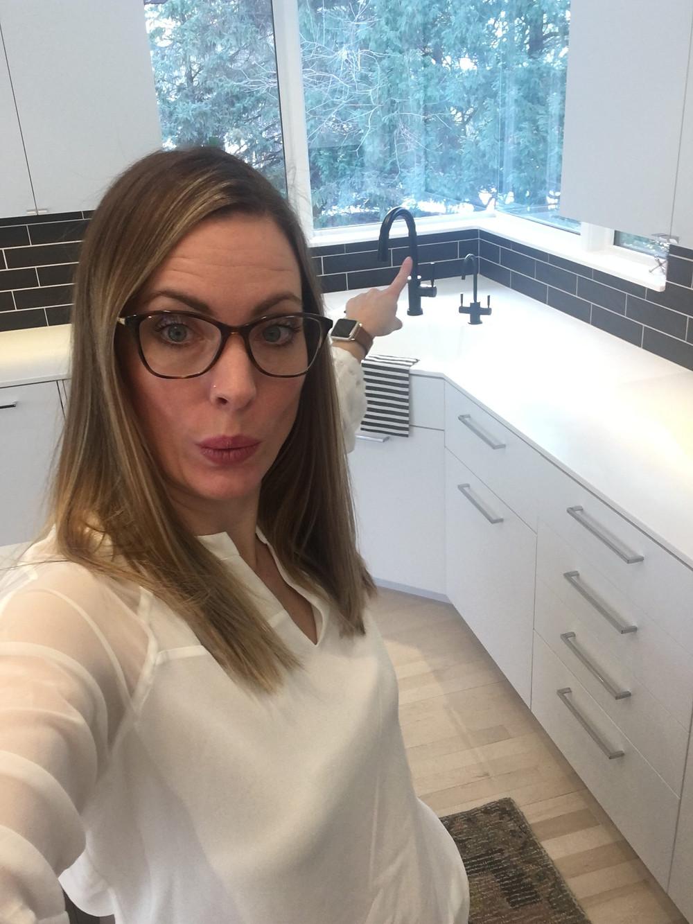 EH Design Blog - Modern Kitchen Reveal - matte black faucet