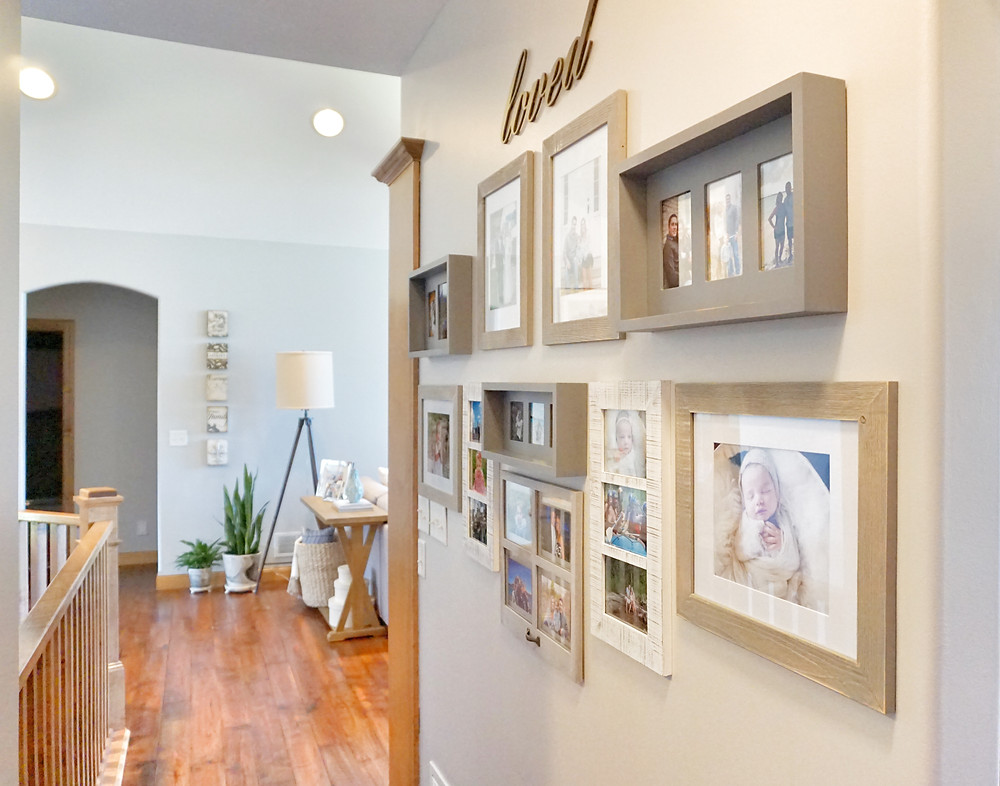 EH Design - Osseo Family Room - Gallery Wall