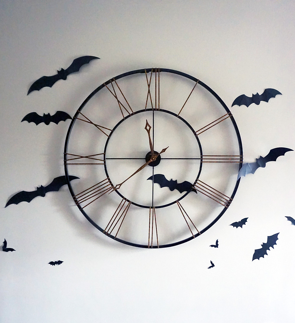EH Design Blog - Halloween Decorations - Bats around the Clock