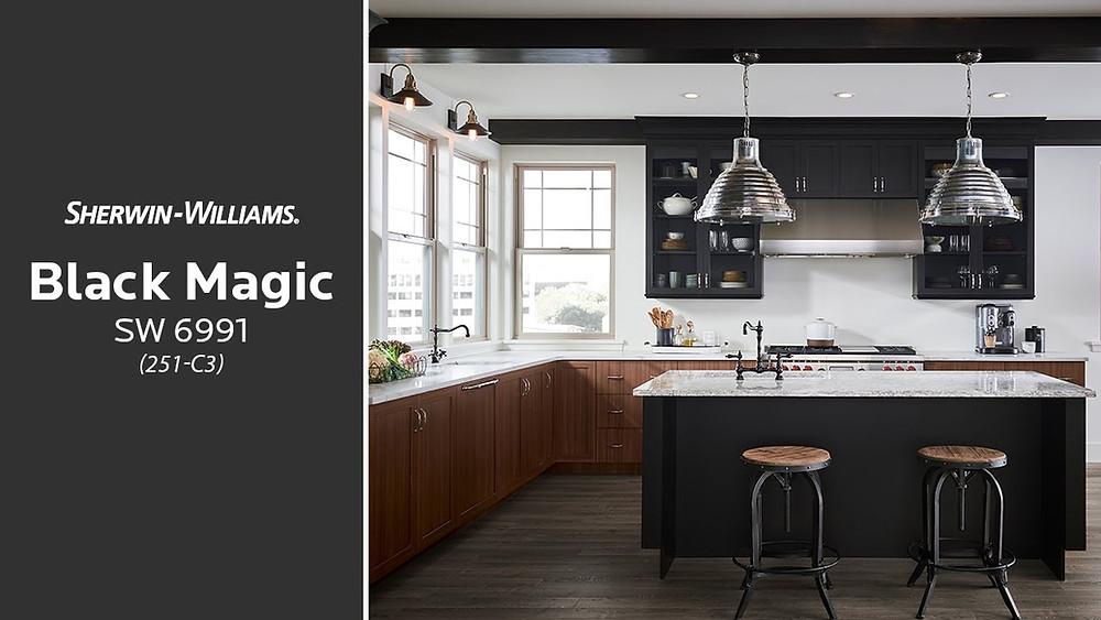Cabinet Color Sherwin Williams Black Magic - Design - Sherwin Williams